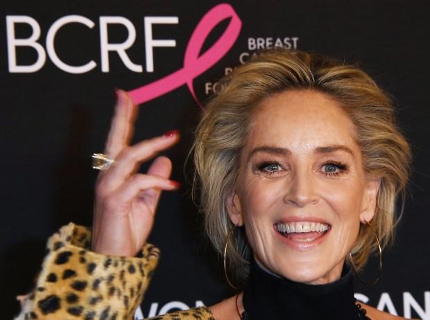 """Llega la actriz estadounidense Sharon Stone """"Una velada inolvidable"""" Aprovechado por la Women's Cancer Research Foundation en el Beverly Wilshire Hotel el 28 de febrero de 2019 en Beverly Hills.  (Mark Ralston / AFP a través de Getty Images)"""