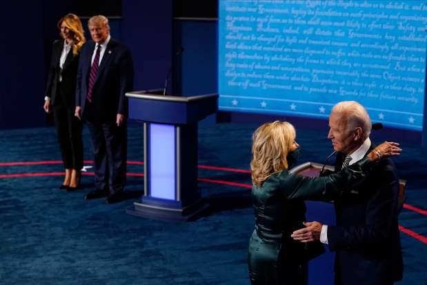 Melania Trump's curious greeting of Trump after debate raises questions