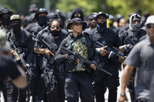 An all-Black group is arming itself and demanding change