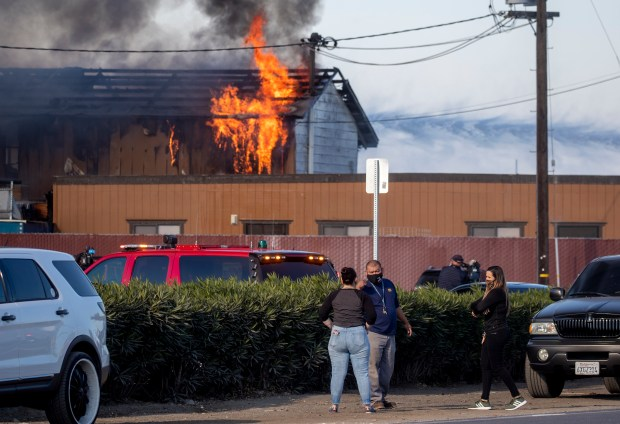 San Jose: Heavy fire breaks out at roofing business