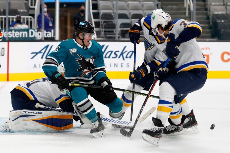 NHL: San Jose Sharks frustrated by loss to St. Louis Blues