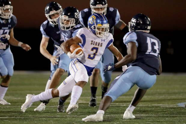 Prep football: Serra pulls out season-opening win over Valley Christian 2