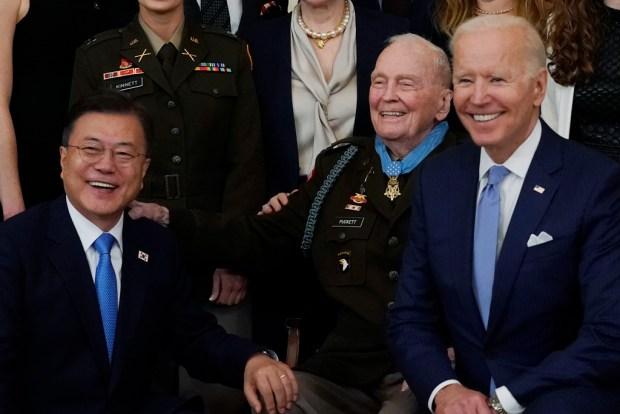 Biden presents Korean War veteran the Medal of Honor