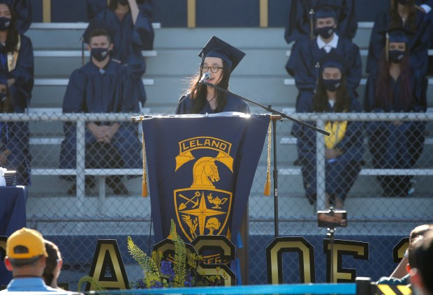 Photos: Leland High School honors their Class of 2021 with two socially distanced graduation ceremonies 8