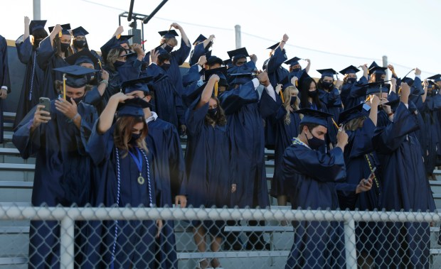 Photos: Leland High School honors their Class of 2021 with two socially distanced graduation ceremonies 10