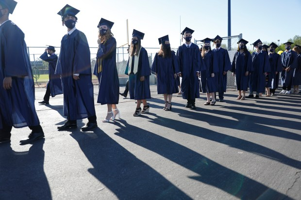 Photos: Leland High School honors their Class of 2021 with two socially distanced graduation ceremonies 16