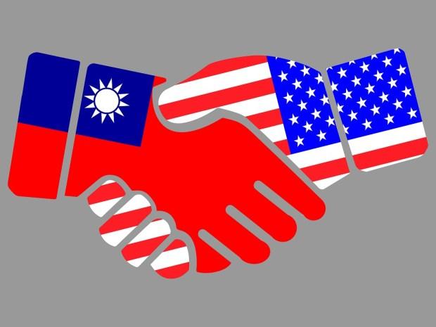 Taiwan and US Handshake