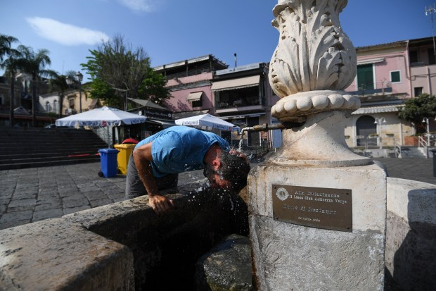 Heat wave continues to bake Southern Europe, sparking wildfires