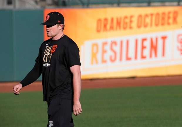 SF Giants starter Logan Webb, fueled by Red Bull, goes after Dodgers in Game 5 of NLDS