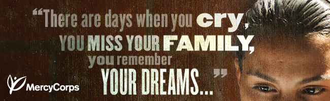 There are days when you cry, you miss your family, you remember your dreams...