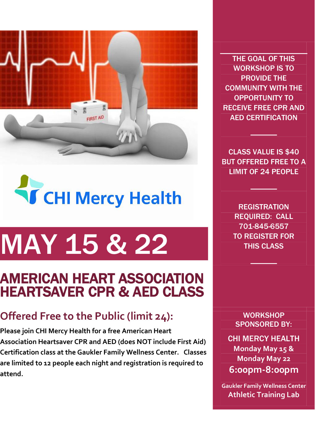 American Heart Association Heartsaver Cpr Amp Aed Class