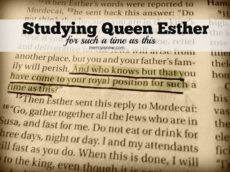 Studying Queen Esther