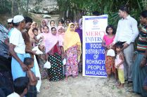 Mercy Universal helped displaced Rohingyas with food and clothing in 2017