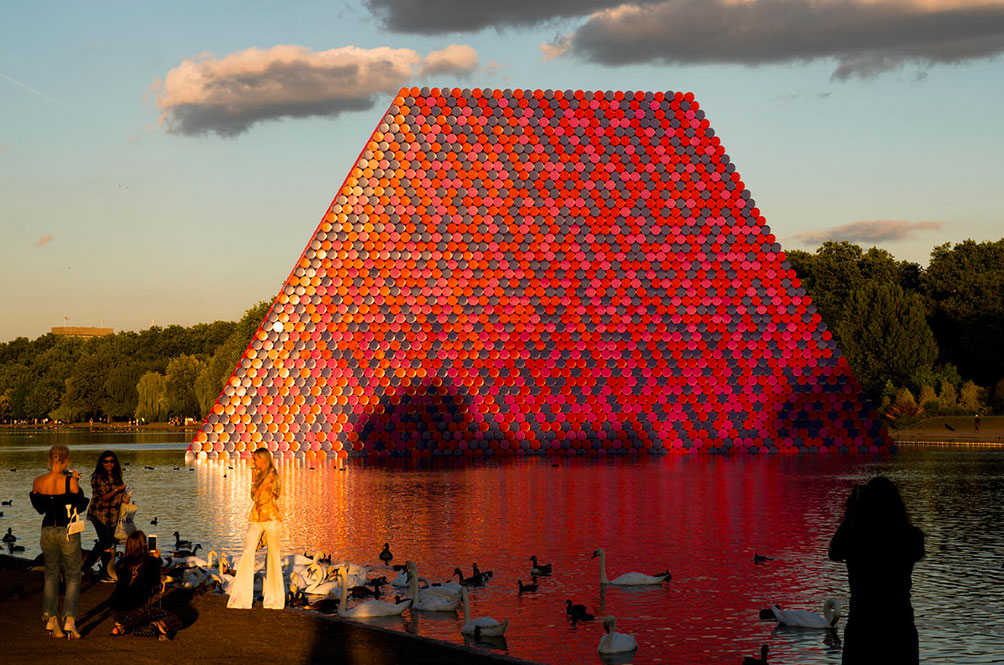 The London Mastaba by Christo in Hyde Park