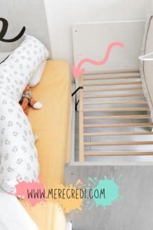 comment attacher le lit de bébé au lit des parents pour créer un lit cododo fait maison Merecredi