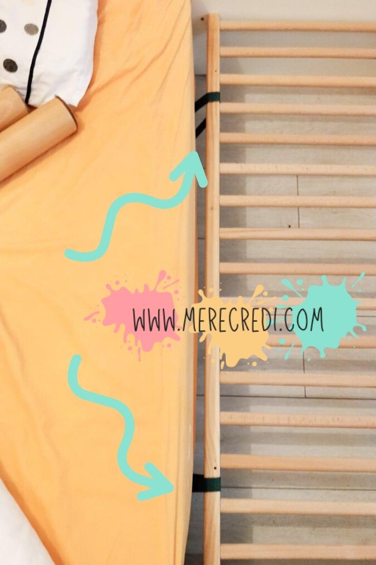 attacher lit bébé au lit des parents pour fabriquer un lit cododo
