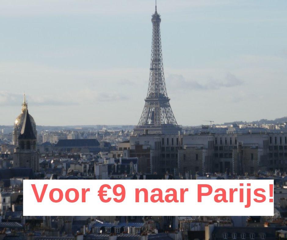 Voor €9 naar Parijs reizen?! Zo doe je dat.