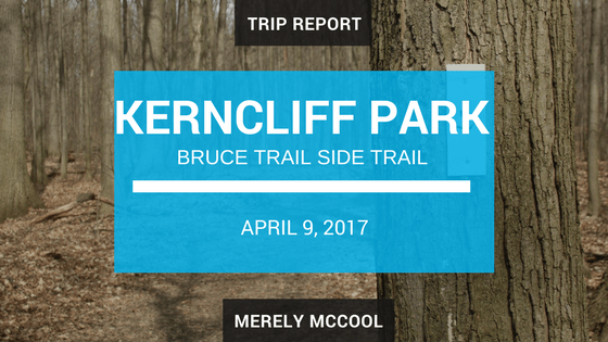 Trip Report: Kerncliff Park, Ian Reid and King side trails