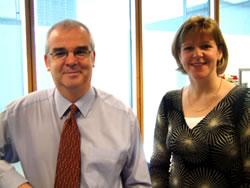 Drs Les Wood and Lorna Paul