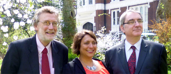 Dr Charles Shepherd (ME Association), Sonya Chowdury (Action for ME) and Dr Neil Abbot (ME Research UK)