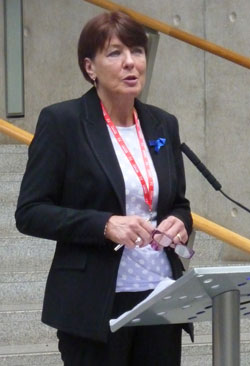 Mary Fee MSP opening the reception