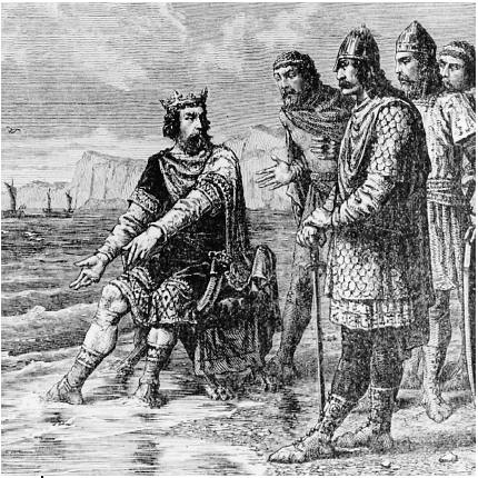 """""""Canute rebukes his courtiers"""" by Alphonse-Marie-Adolphe de Neuville"""