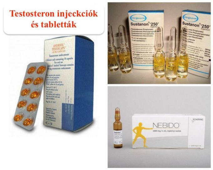 Testosteron injekciók