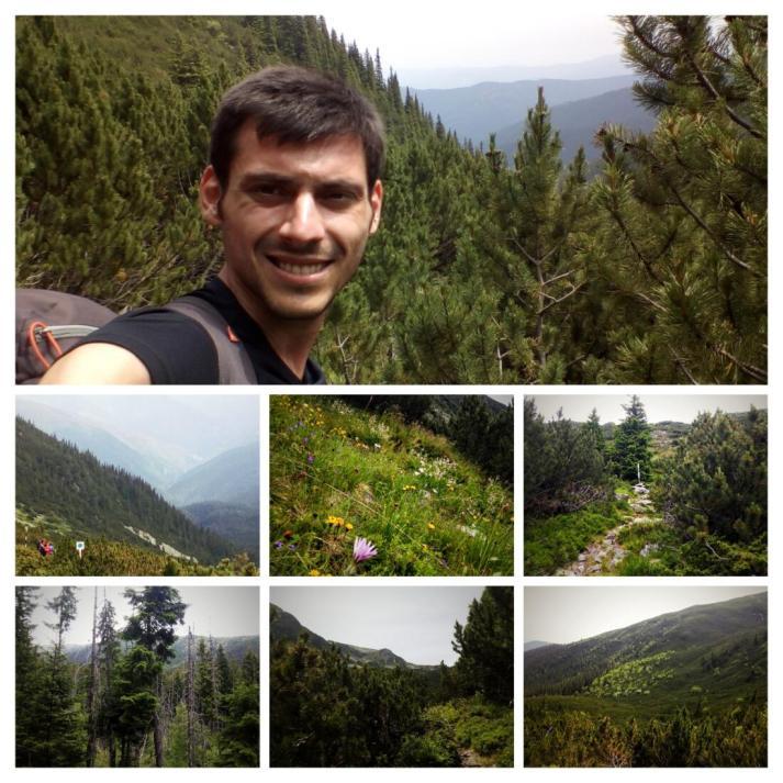 Urcand pe Valea Jepilor spre Varful Iezer