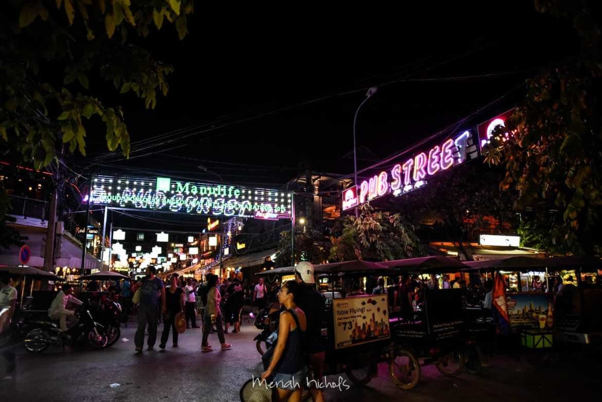 """Pub Street"" - the place in Siem Reap that is full of foreigners and food"