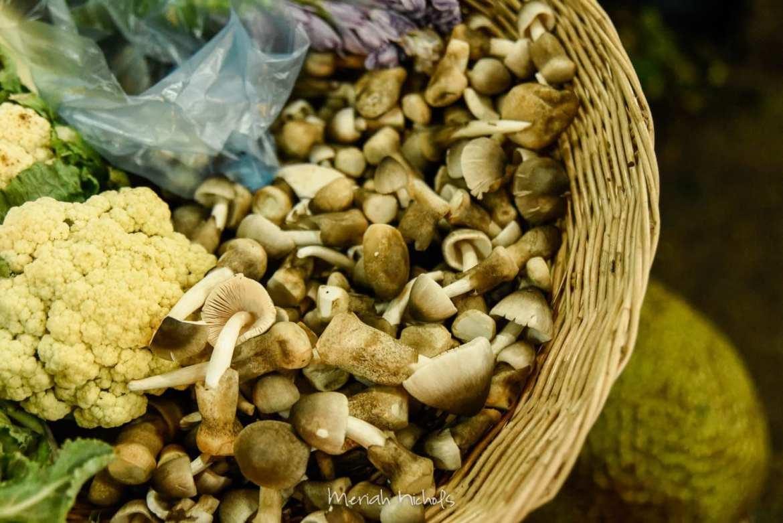 real, fresh straw mushrooms - I've never seen them fresh before