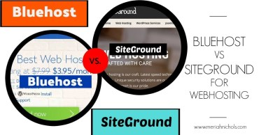 A comparison post between Bluehost and Siteground, two popular website hosting companies