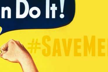 "save medicaid - rosie the riveter saying ""we can do it"""