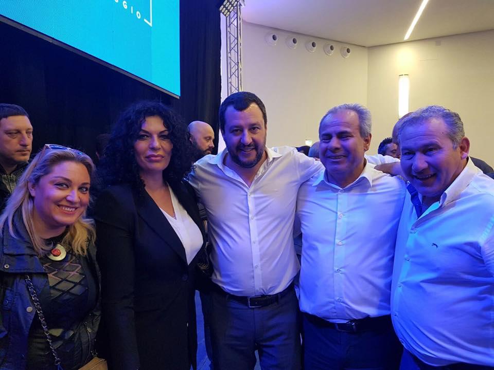 Ciro Borriello con Matteo Salvini
