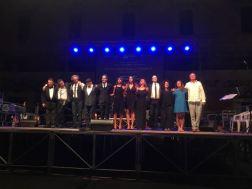 L'ensamble di Musicultura sul palco