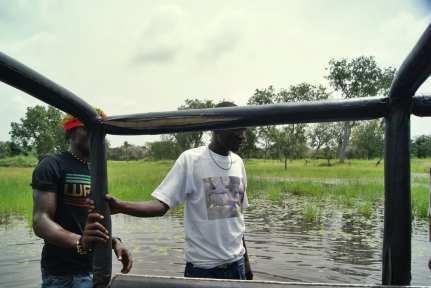 De camino a Ginak, Gambia