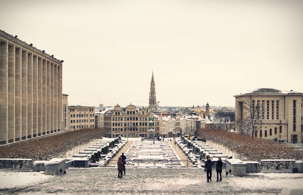 Bruselas nevado