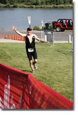 Joseph trained for his triathlons with Coach Sandy Ziya of Meridians & Marathons
