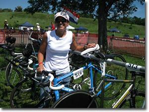 Liz trained for her triathlon with Coach Sandy Ziya of Meridians & Marathons