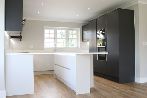 MINIMALIST MONOCHROME KITCHEN IN RINGWOOD, HAMPSHIRE