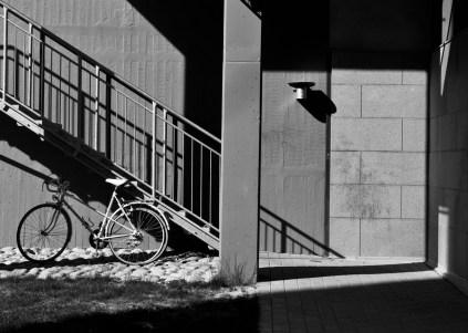 Cykel och trappa