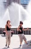Dans vid fontän