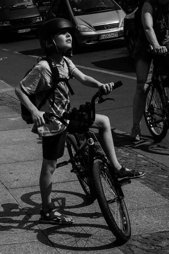 Ung cyklist, Berlin
