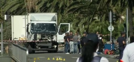 The truck used by the terrorist.