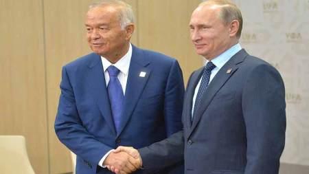 File Photo of Uzbek president Islam Karimov with Russian President Bladimir Putin.