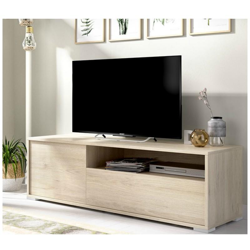 mueble television salon 130 cm natural london