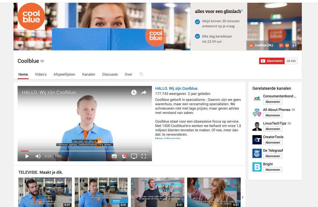 Coolblue Youtube kanaal