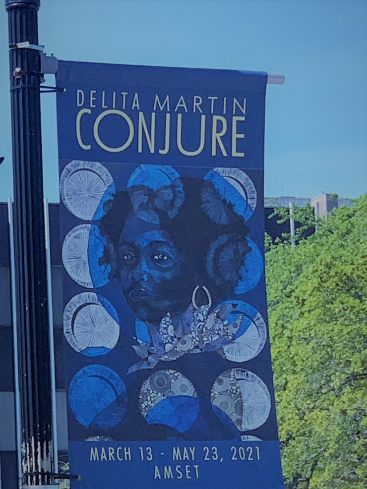 Delita Martin Conjure Sign in Beaumont, TX for the American Southeast Texas Art Museum