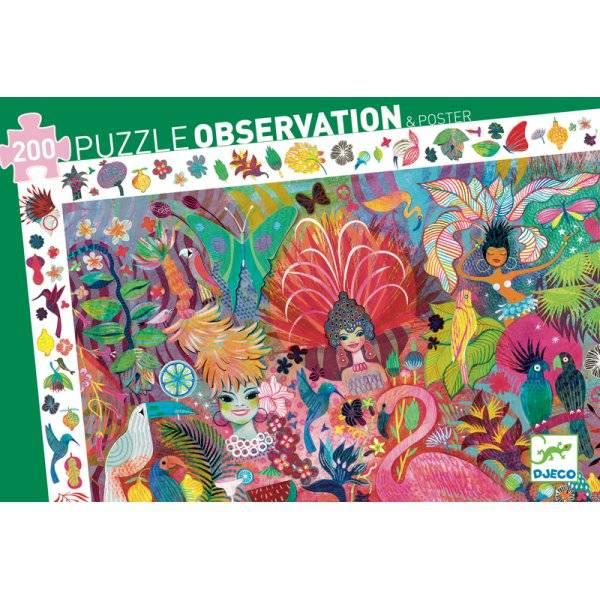 puzzle d observation carnaval de rio 200 pieces djeco puzzle enfant