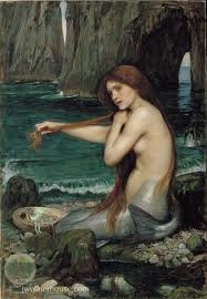 """A Mermaid"" by John William Waterhouse, 1901"