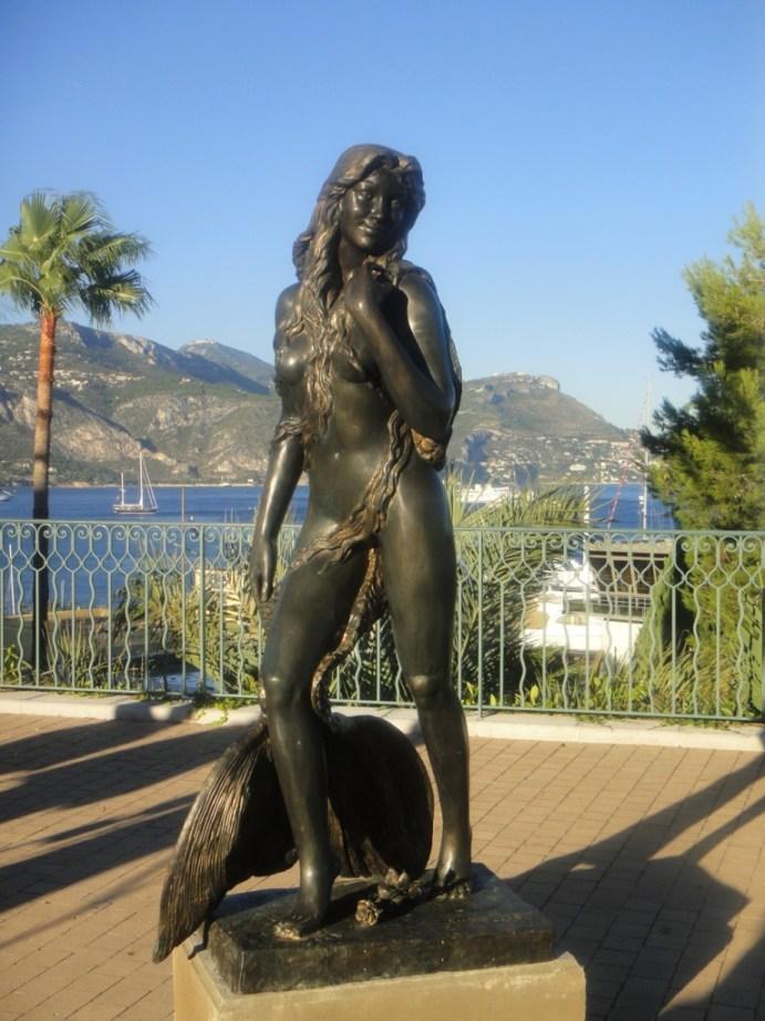 Ama du Cap Ferrat mermaid statue.